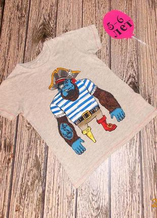 Фирменная футболка m&s для мальчика 5-6 лет, 110-116 см