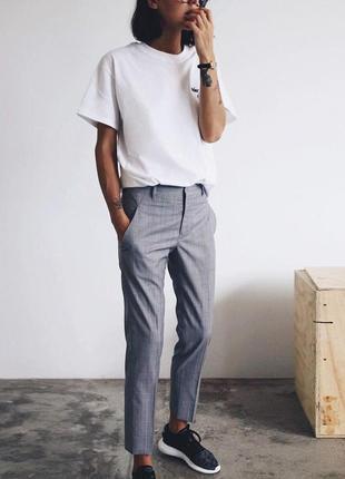 🌿 шикарные, серые брюки со льном от h&m