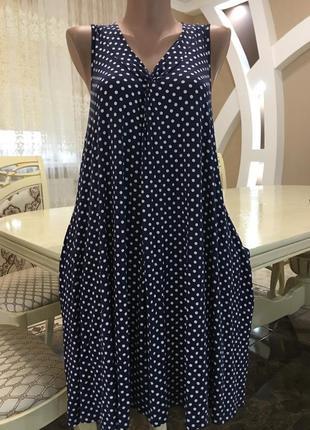 Шикарное платье 👗 в горох 🌸от m&s🌸