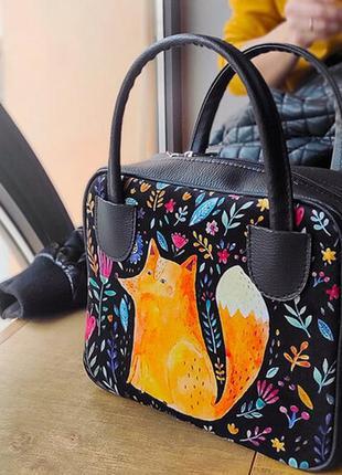 Сумка женская kitto лисичка 25х20х9 см (ski_20f002_bl)