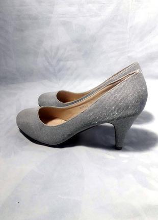 Распродажа! блестящие туфли лодочки, серебро, серебряные, серебристые