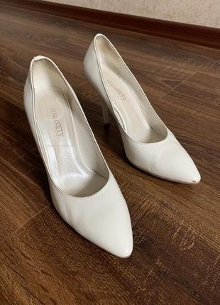 Белые/туфли/лодочки/свадебные/кожаные