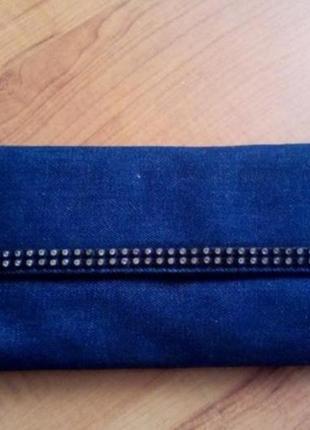 Клатч сумочка джинсовая
