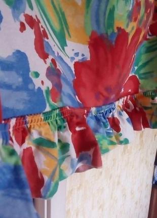 Красивая яркая штора- ламбрекен 2 метра 37 см/штора/тюль/занавеска/ламбрекен3 фото
