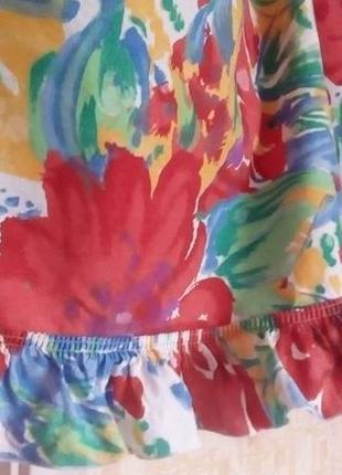 Красивая яркая штора- ламбрекен 2 метра 37 см/штора/тюль/занавеска/ламбрекен2 фото
