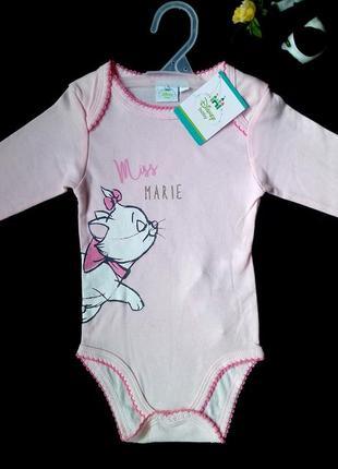 Боди розовый хлопковый новый бренд disney