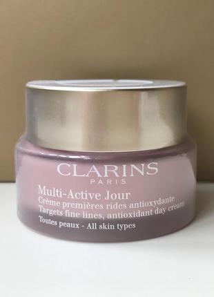 Clarins дневной крем multi-active jour