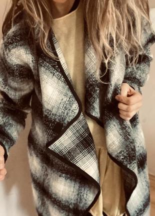 Тёплая кофта пиджак оверсайз
