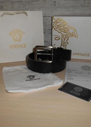 Ремень пояс мужской versace кожа, италия, оригинал 186