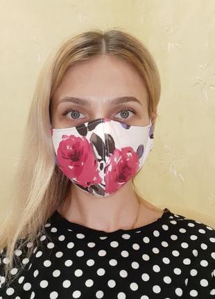 Маска защитная трёхслойная для лица