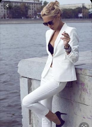 Базовый белый пиджак