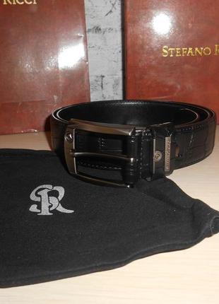 Ремень пояс мужской  stefano ricci  кожа, италия, оригинал 187