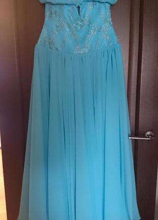Шикарное вечернее выпускное платье