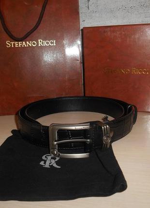 Ремень пояс мужской  stefano ricci  кожа, италия, оригинал 188