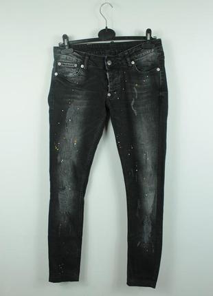 Оригинальные стильные джинсы dsquared2 ripped skinny black jeans