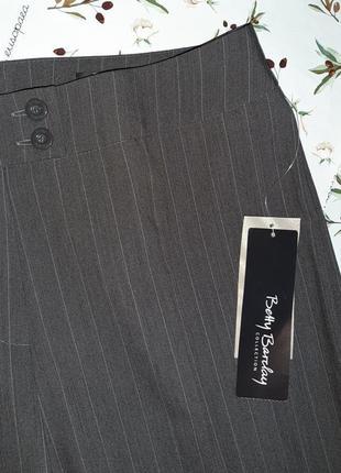 🌿1+1=3 классические высокие брюки шерсть в полоску свободного прямого кроя, размер 50 - 526 фото