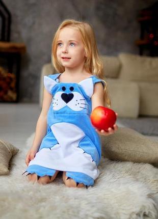Детское платье на весну, платье велюровое на девочку, дитяча сукня демі