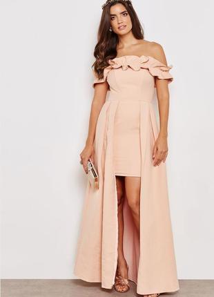 Новое брендовое праздничное нарядное вечернее свадебное длинное платье в пол