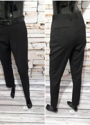 Классические черные прямые брюки/ высокая посадка