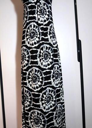 Модный длинный трикотажный сарафан