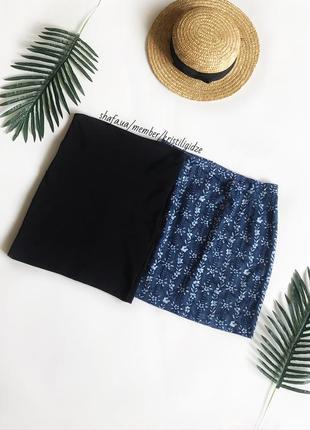 Стильная чёрная бандажная юбка мини р. cs