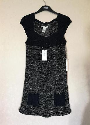 Вязаное платье накидка