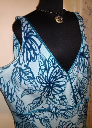 Натуральное,красивое,длинное,летнее платье,большого размера,bonmarche,шри ланка