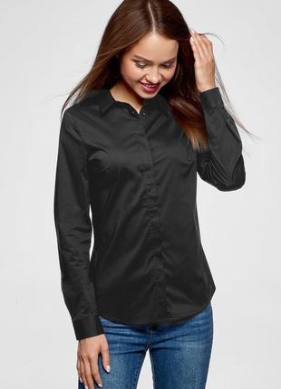 Чорна  сорочка з довгим рукавом  orsay