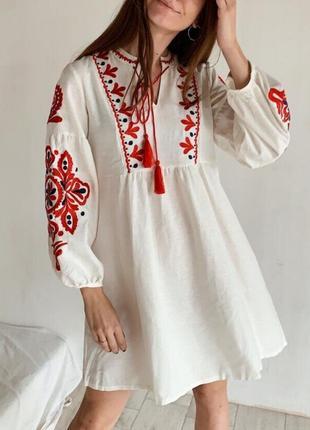Белое платье - вышиванка