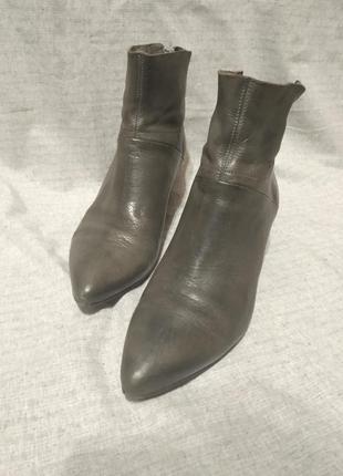 Ботинки сапоги ботильоны серые деми кожа челси