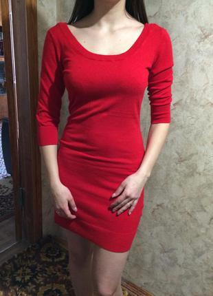 Мягкое/ тёплое/ стильное платье миди