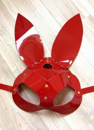 Латексная виниловая маска зайчик с ушками