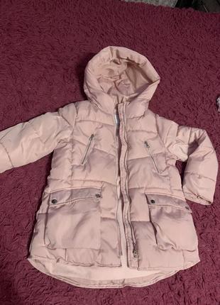 Пуховик,пальто,куртка zara на рост 140