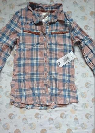 Новая стильная рубашка matalan на девочку