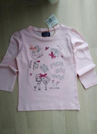 Реглан футболка для девочки, англия 92-98-104см