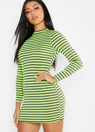 Boohoo. неоновое платье. стрейтч. uk12 наш 46 новое.