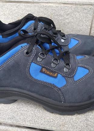 Кожаные рабочие ботинки, туфли shield