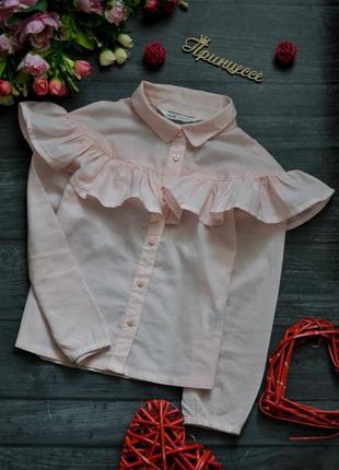 Детская блузка h&m с оборкой воланом 4-6лет