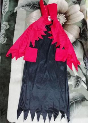 Карнавальное платье  чертовки, ведьмы, леди вамп на хэллоуин на 4-6лет