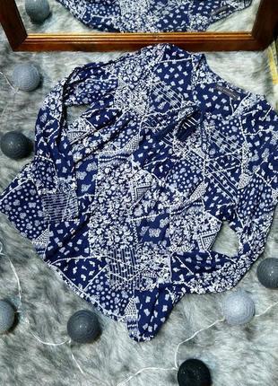 Блуза топ кофточка из натуральной вискозы marks & spencer