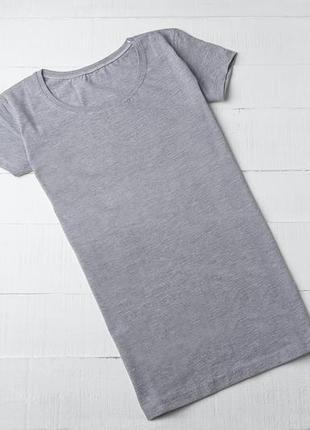 Базовая серая футболка без надписей, хлопок