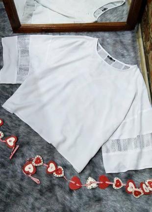 Блузка кофточка с ажурными вставками warehouse