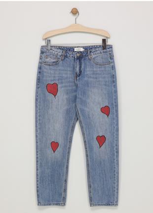 Новые джинсы lili sidonio x molly bracken голубые в сердечки мом