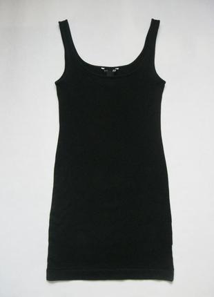 Чёрное короткое платье по фигуре от h&m
