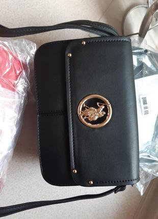 Небольшая сумочка-кроссбоди us polo assn uspa сумка черная