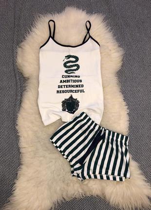 Пижама гарри поттер harry potter летняя майка шорты для дома костюм набор комплект