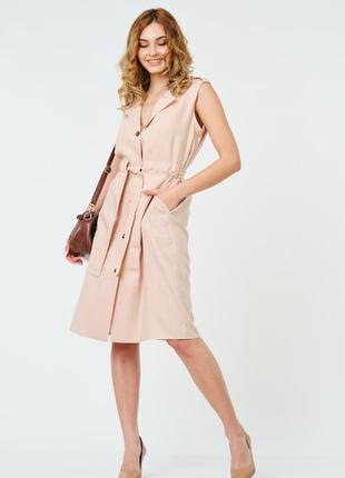 Літнє лляне жіноче плаття 44 - 54  роз