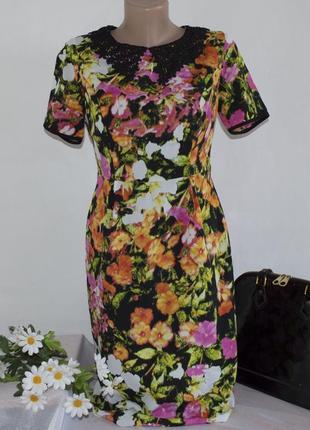 Брендовое макси платье myleene klass турция ажур цветы этикетка