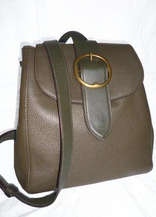 Стильная сумка-рюкзак из натуральной кожи  polo ralph lauren