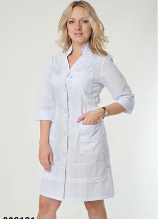 Белый халат медицинский, батист, р. 40-56; женская медицинская одежда, 892131